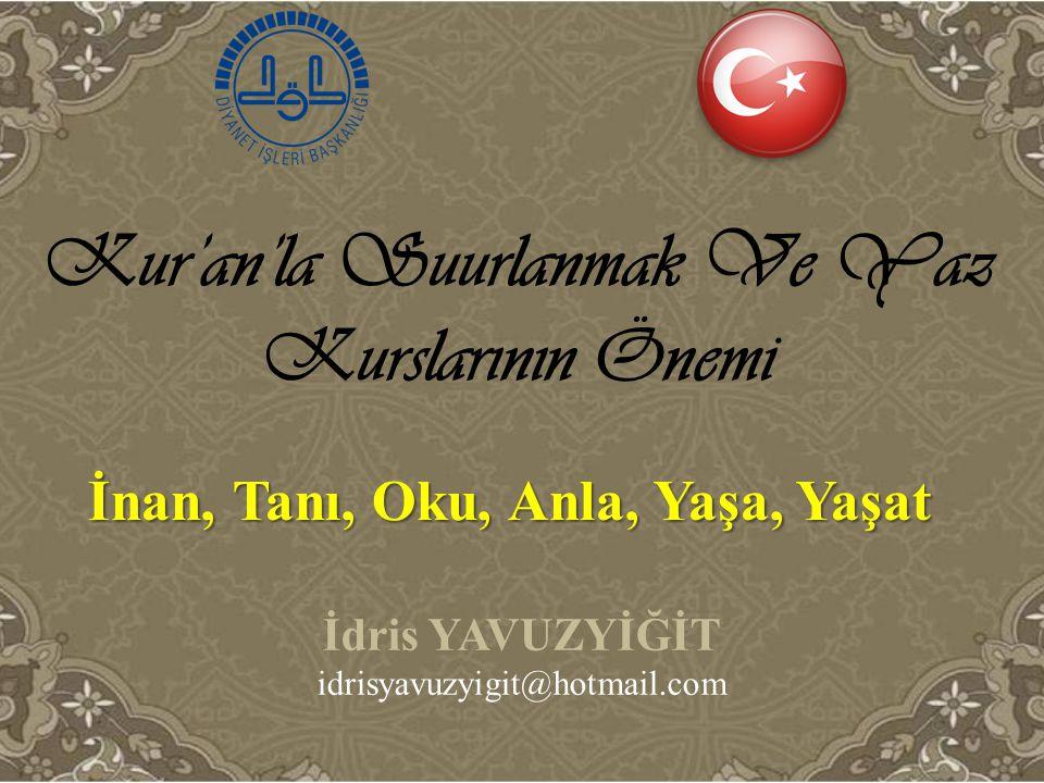 Kur'an'la Suurlanmak Ve Yaz Kurslarının Önemi
