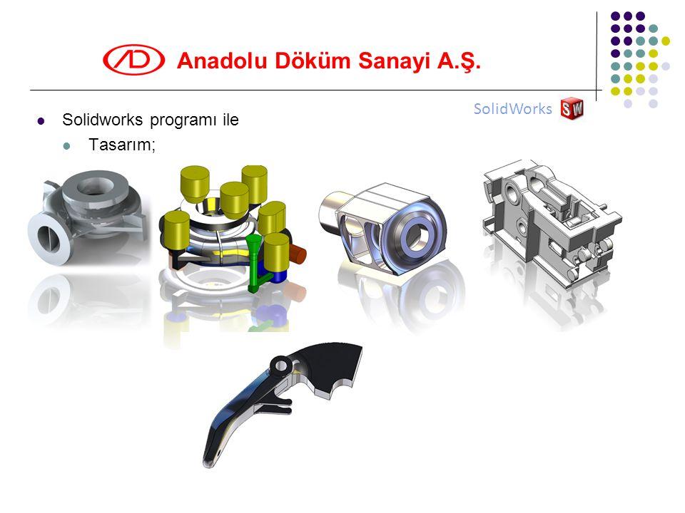 SolidWorks Solidworks programı ile Tasarım;