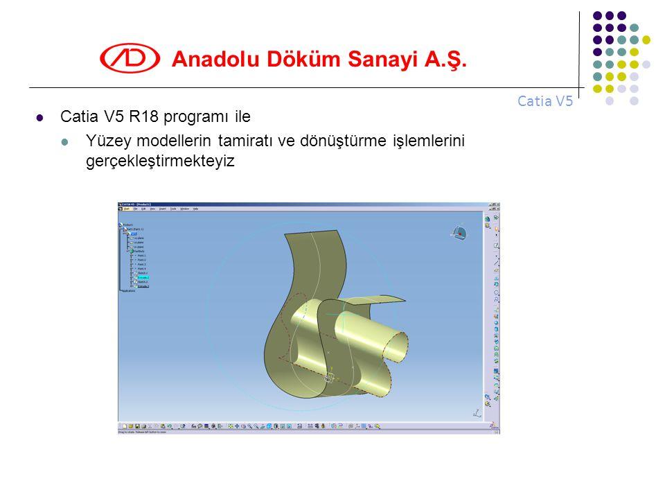 Catia V5 Catia V5 R18 programı ile.