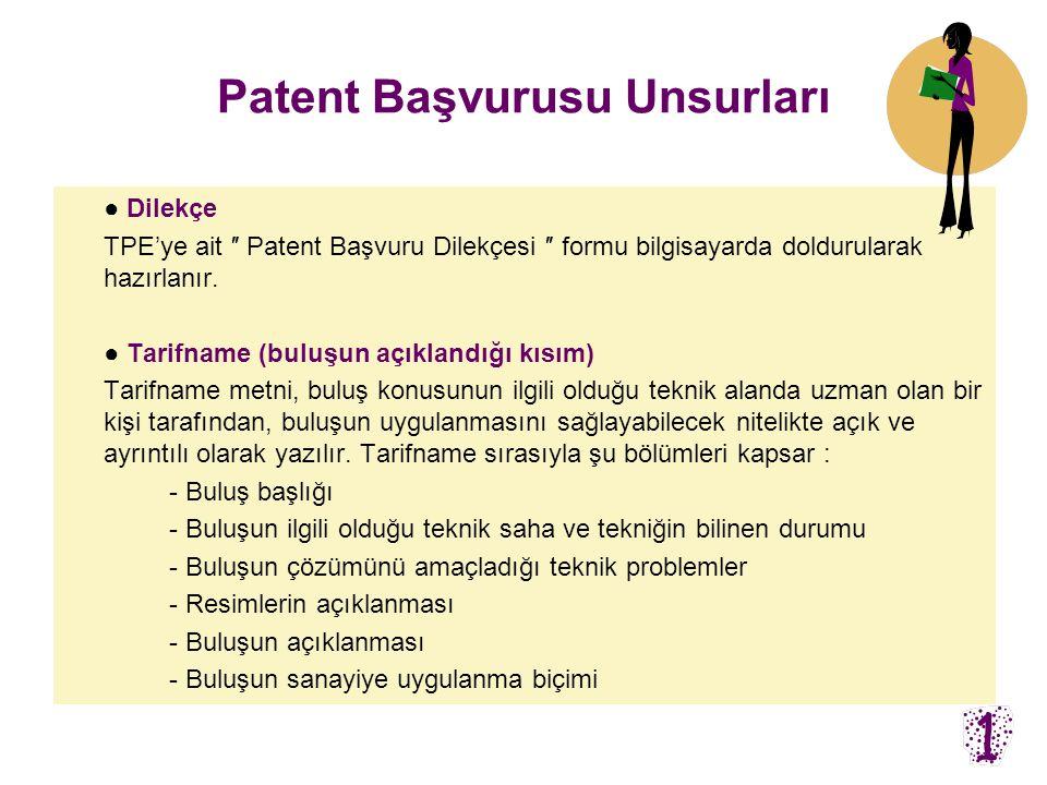 Patent Başvurusu Unsurları