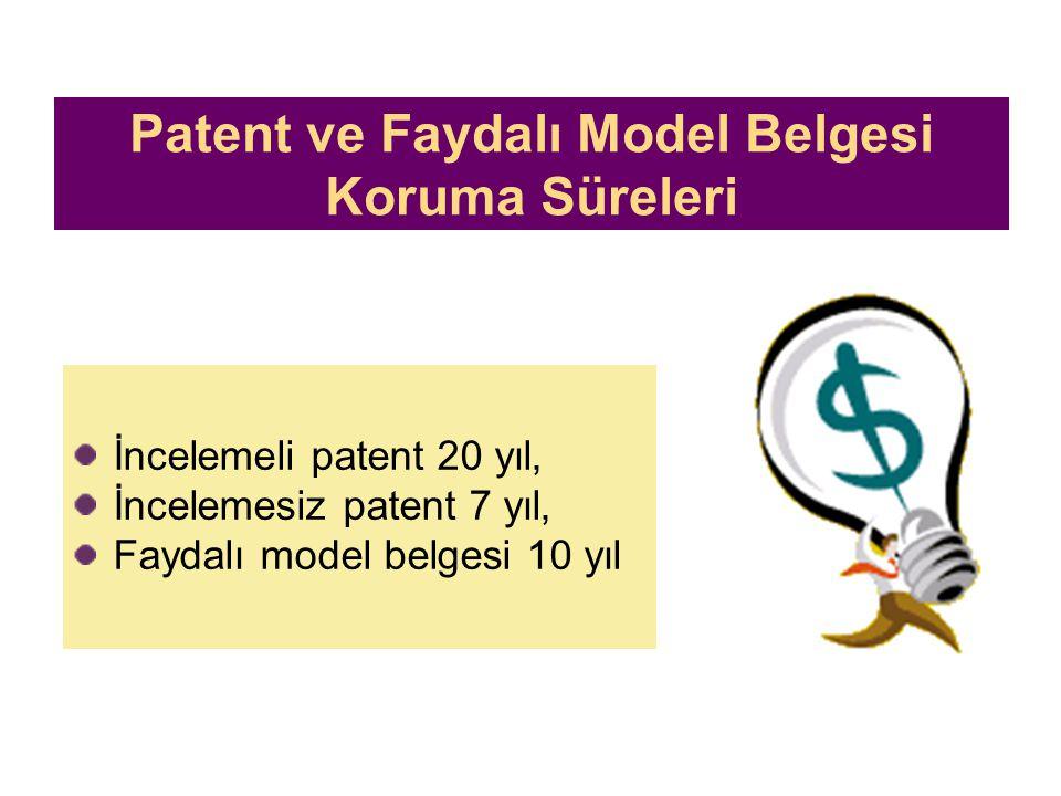Patent ve Faydalı Model Belgesi Koruma Süreleri
