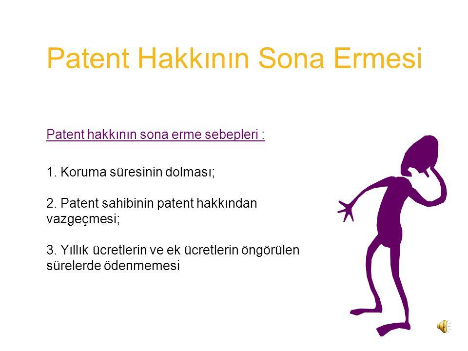 Patent Hakkının Sona Ermesi