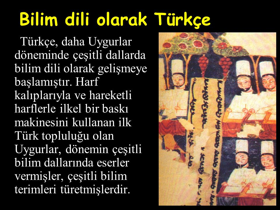 Bilim dili olarak Türkçe