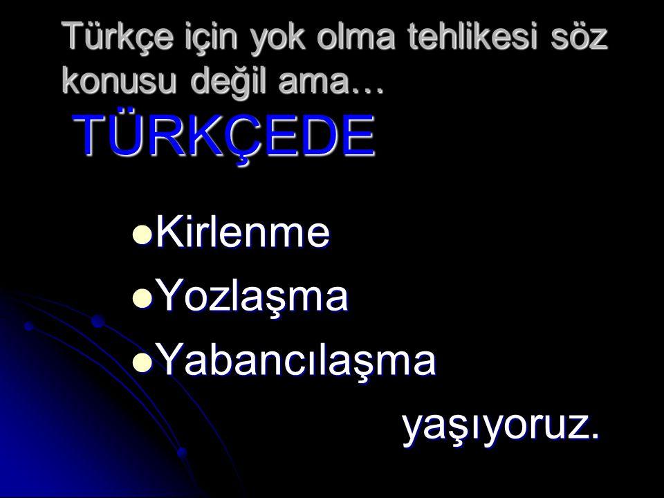 Türkçe için yok olma tehlikesi söz konusu değil ama… TÜRKÇEDE