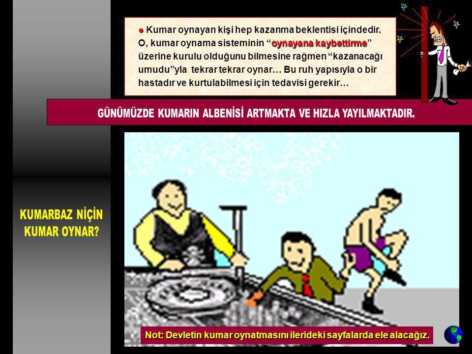 GÜNÜMÜZDE KUMARIN ALBENİSİ ARTMAKTA VE HIZLA YAYILMAKTADIR.