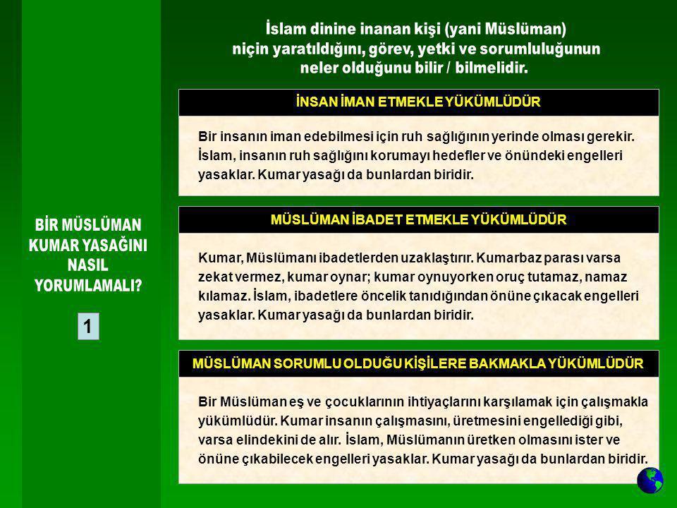 1 İslam dinine inanan kişi (yani Müslüman)