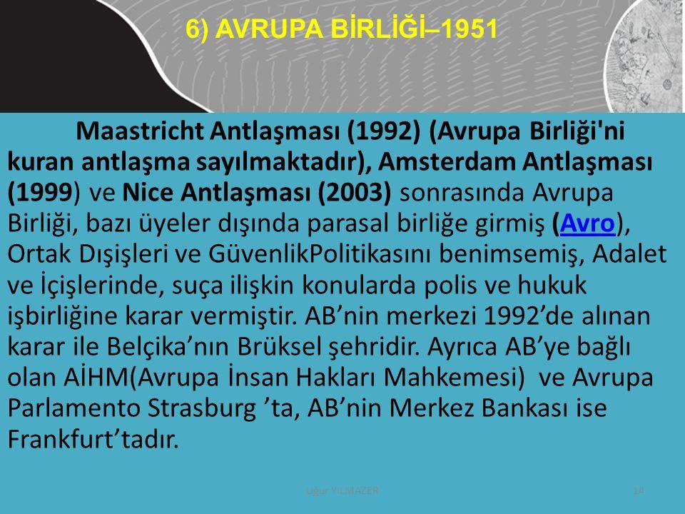 6) AVRUPA BİRLİĞİ–1951