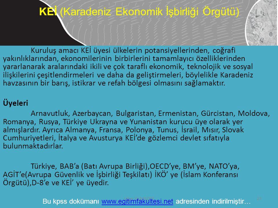 KEİ (Karadeniz Ekonomik İşbirliği Örgütü)