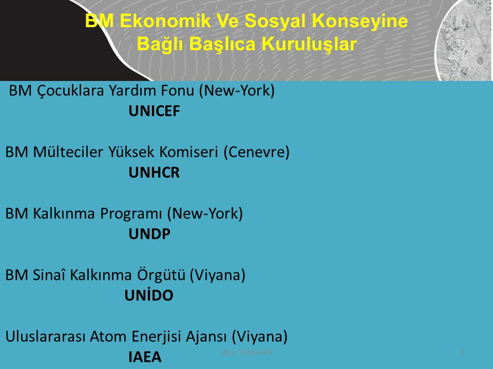 BM Ekonomik Ve Sosyal Konseyine