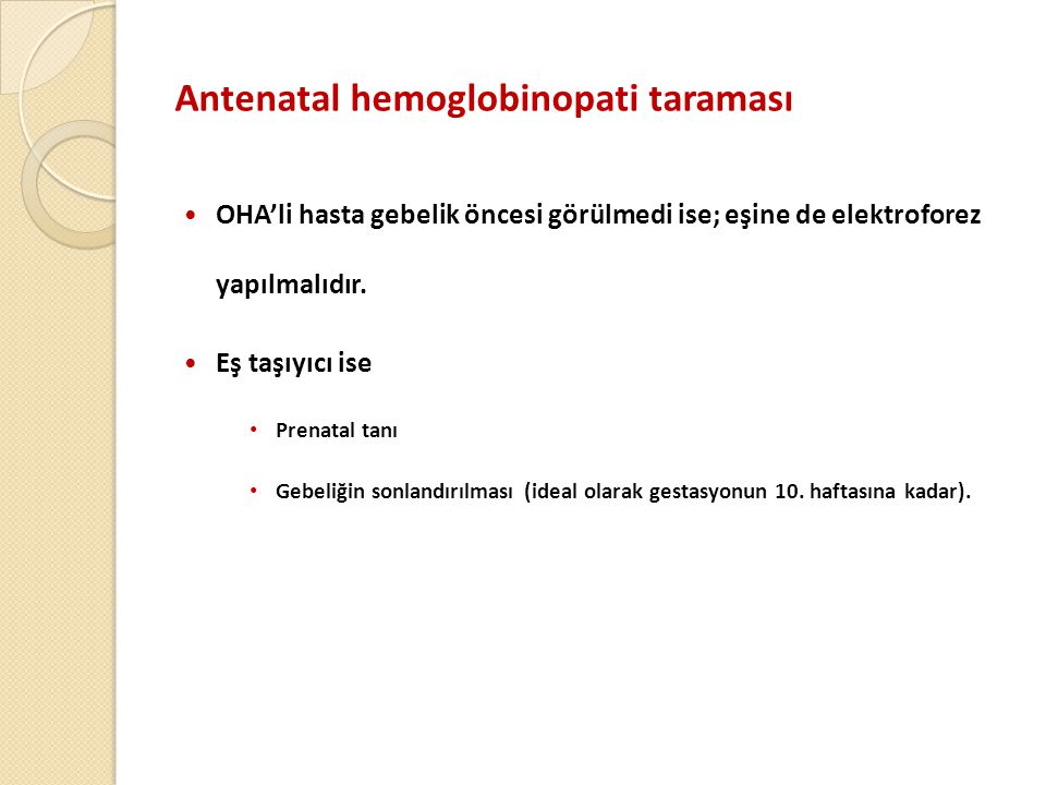 Antenatal hemoglobinopati taraması