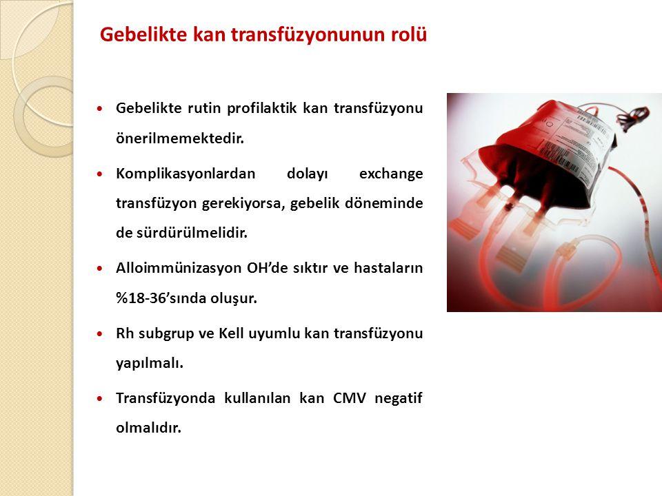 Gebelikte kan transfüzyonunun rolü