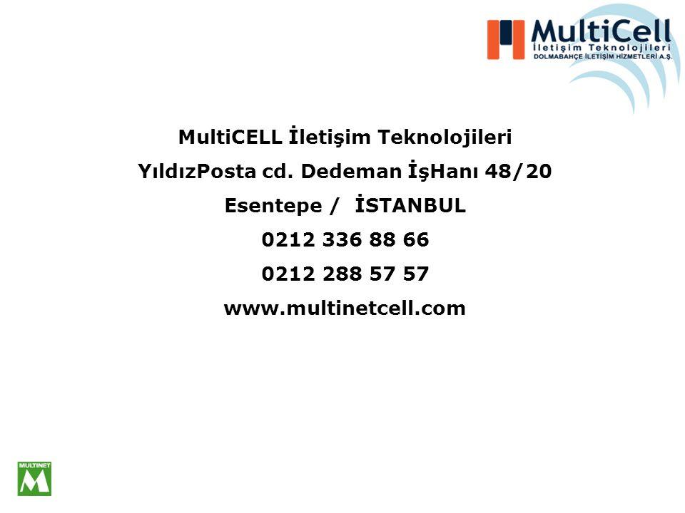MultiCELL İletişim Teknolojileri YıldızPosta cd. Dedeman İşHanı 48/20