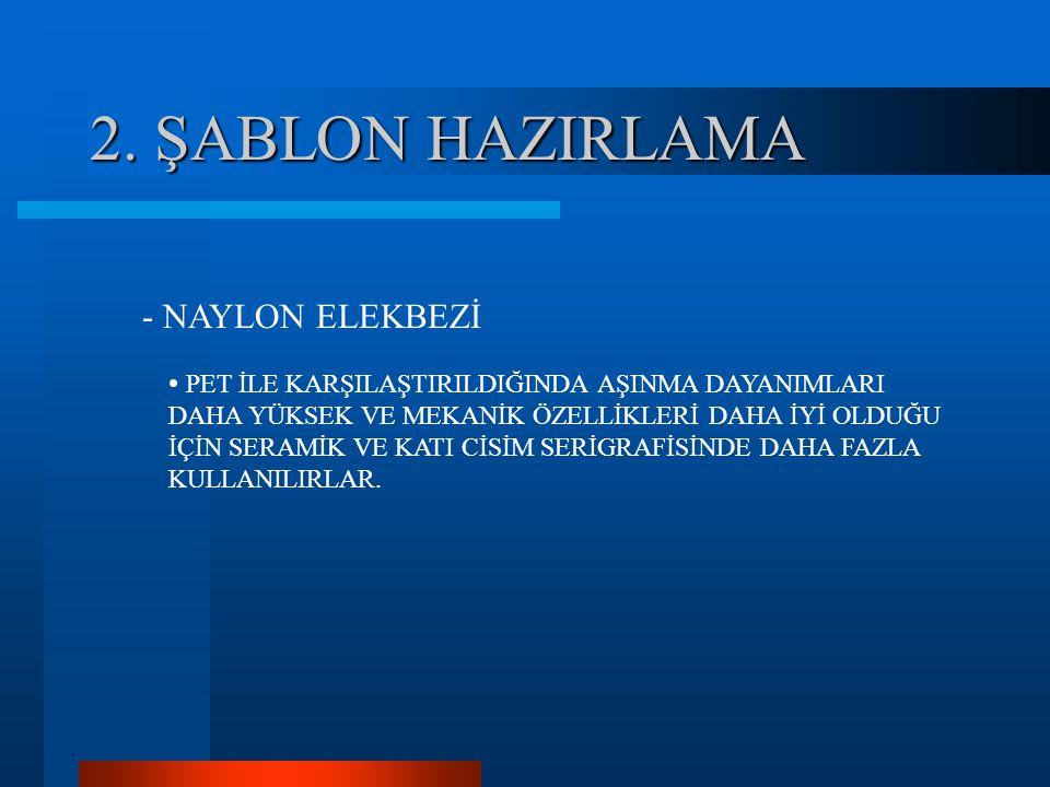 2. ŞABLON HAZIRLAMA - NAYLON ELEKBEZİ
