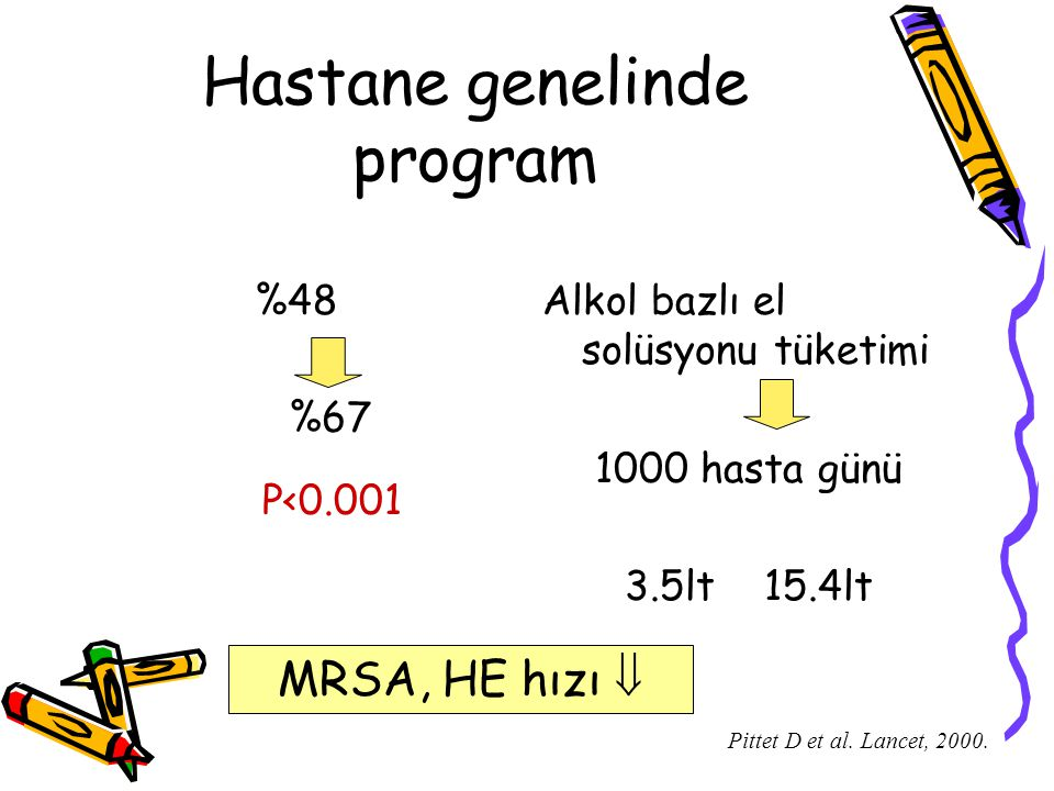 Hastane genelinde program