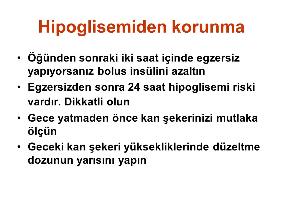 Hipoglisemiden korunma