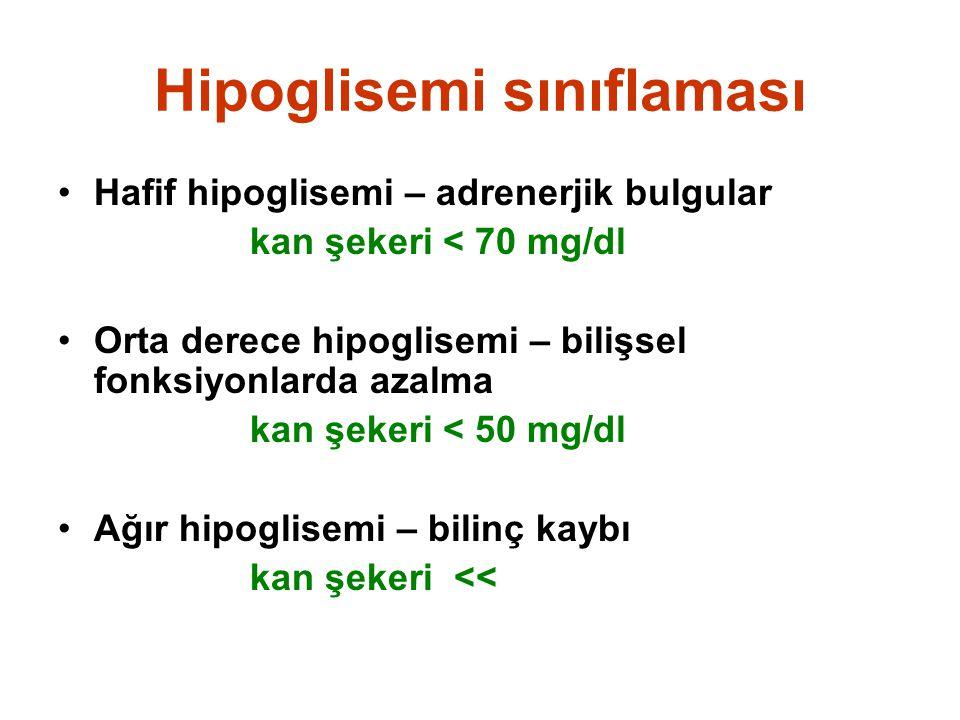 Hipoglisemi sınıflaması
