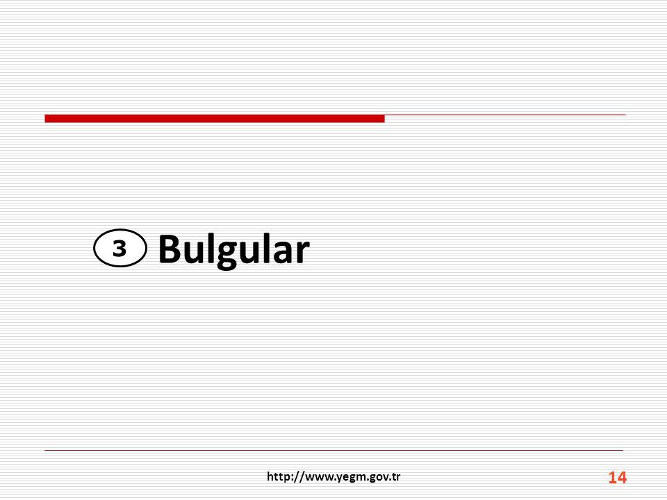 Bulgular 3 http://www.yegm.gov.tr