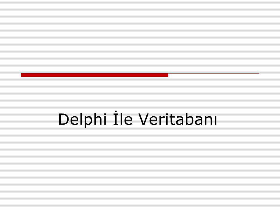 Delphi İle Veritabanı