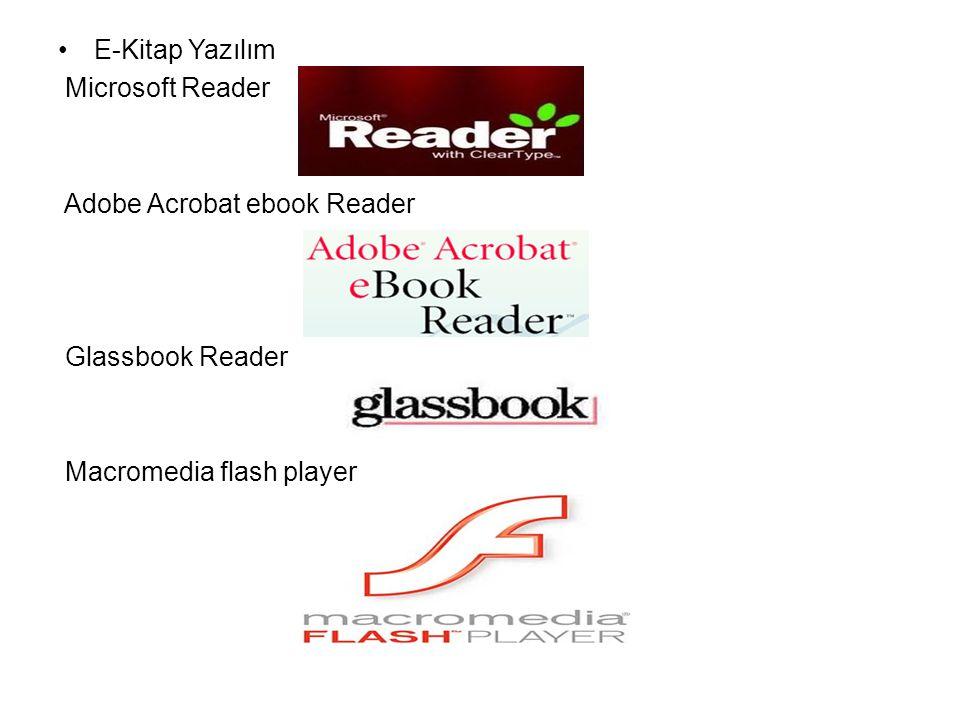 E-Kitap Yazılım Microsoft Reader. Adobe Acrobat ebook Reader.