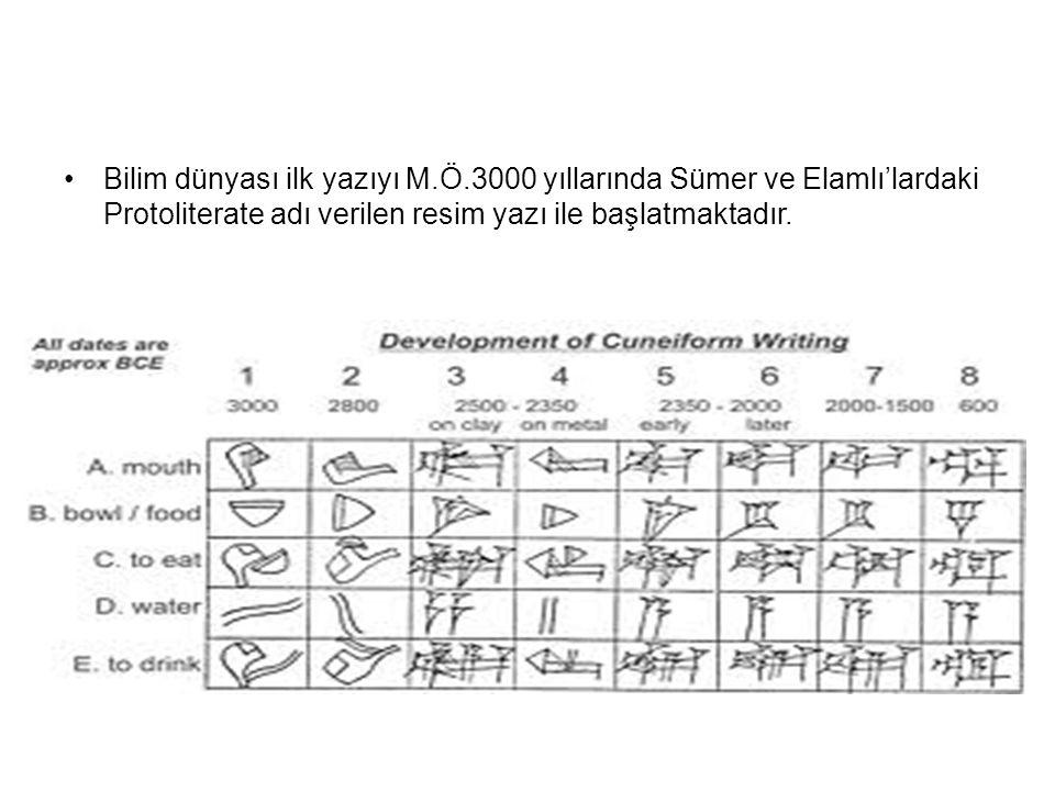 Bilim dünyası ilk yazıyı M. Ö