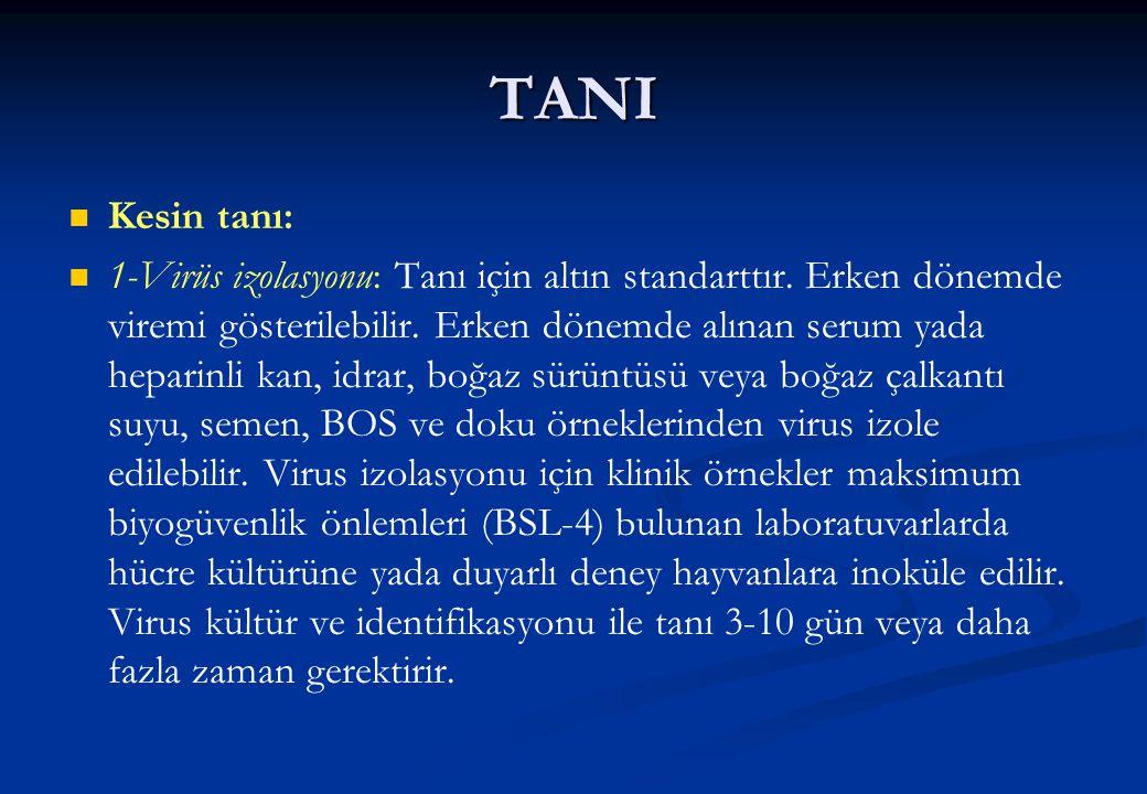 TANI Kesin tanı: