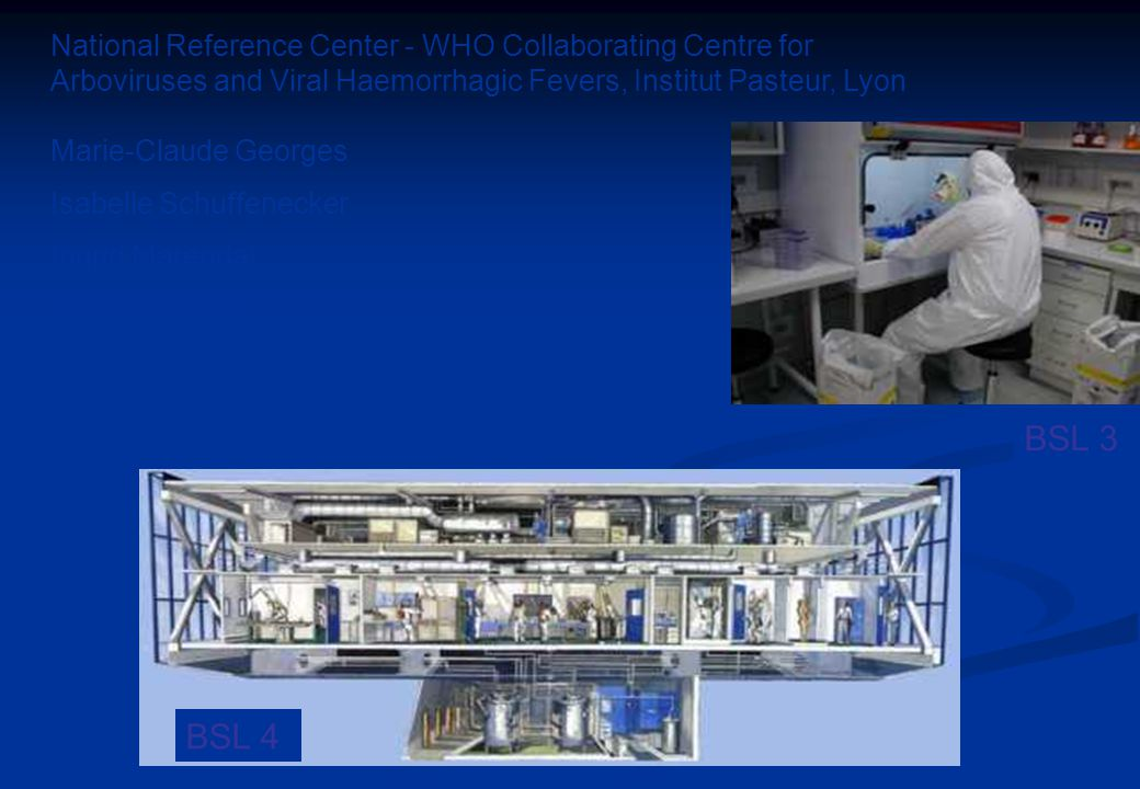 BSL 3 BSL 4 National Reference Center - WHO Collaborating Centre for