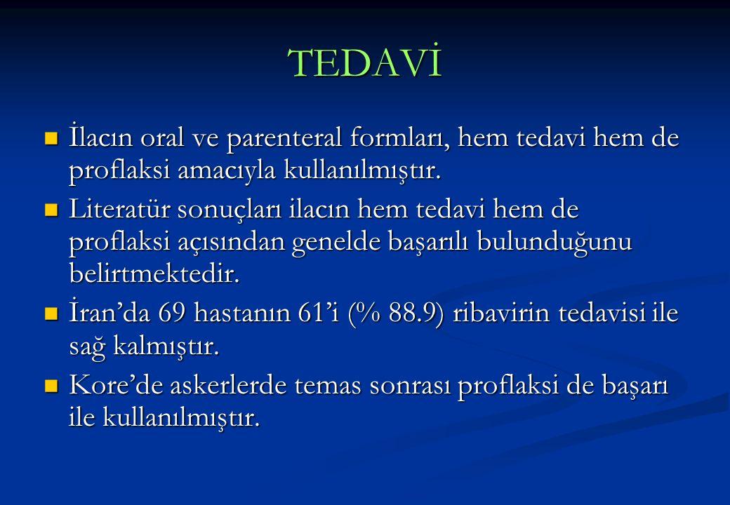 TEDAVİ İlacın oral ve parenteral formları, hem tedavi hem de proflaksi amacıyla kullanılmıştır.