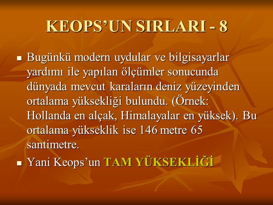 KEOPS'UN SIRLARI - 8