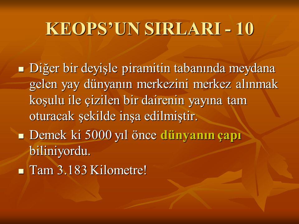 KEOPS'UN SIRLARI - 10