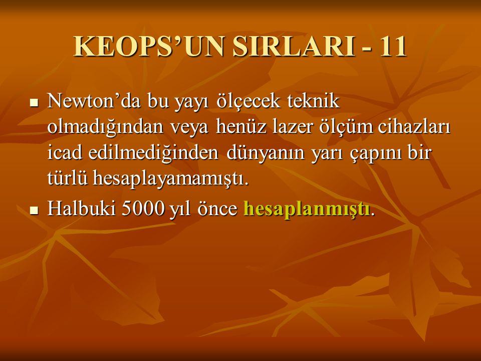 KEOPS'UN SIRLARI - 11
