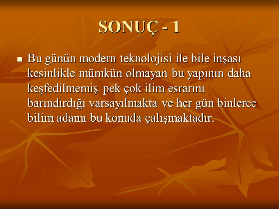 SONUÇ - 1