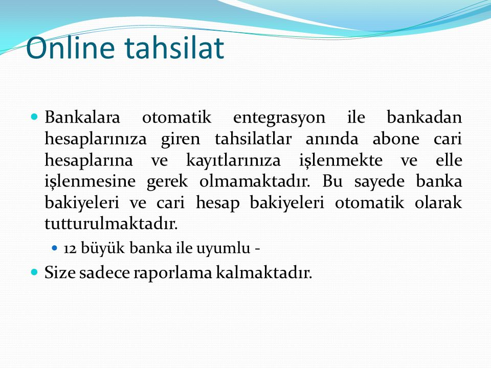 Online tahsilat