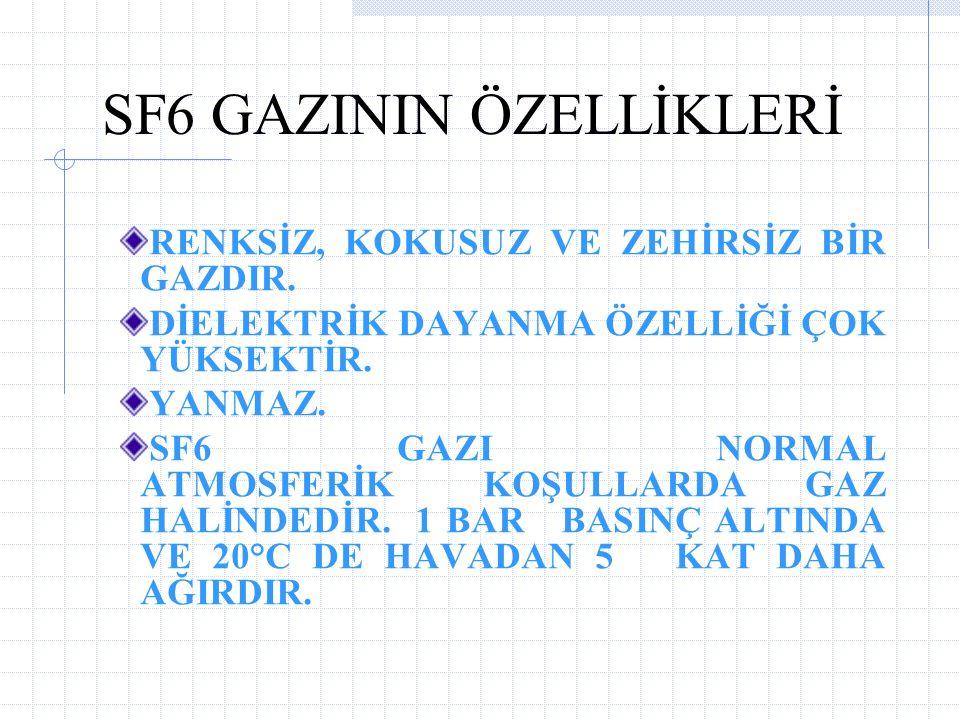 SF6 GAZININ ÖZELLİKLERİ
