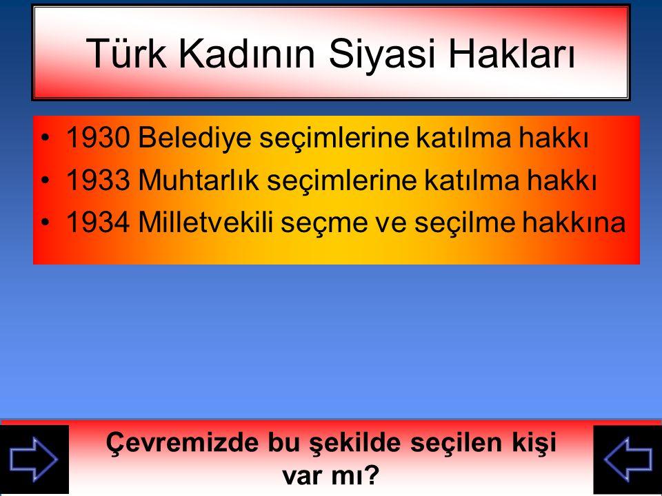 Türk Kadının Siyasi Hakları