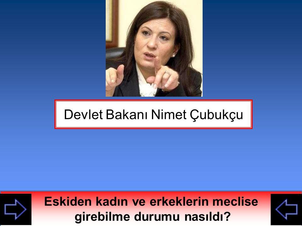 Devlet Bakanı Nimet Çubukçu