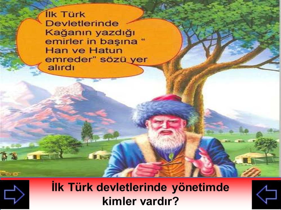 İlk Türk devletlerinde yönetimde