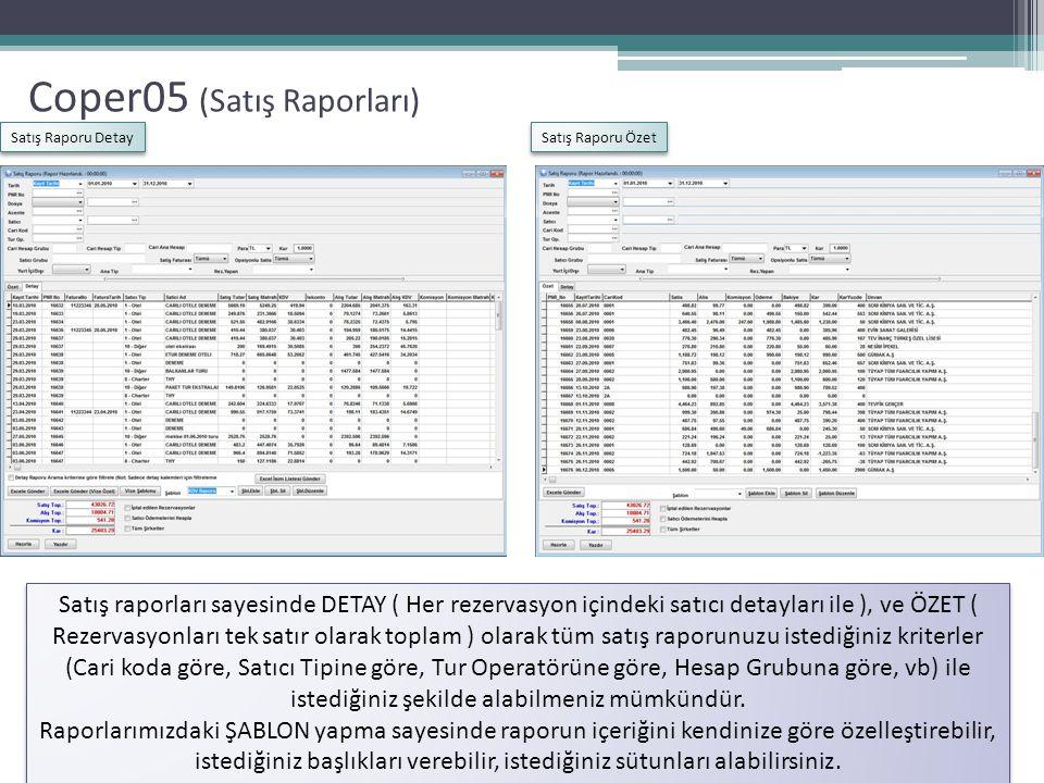 Coper05 (Satış Raporları)