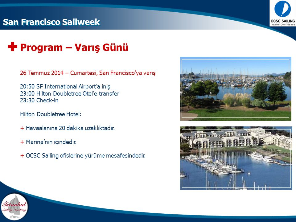 Program – Varış Günü San Francisco Sailweek