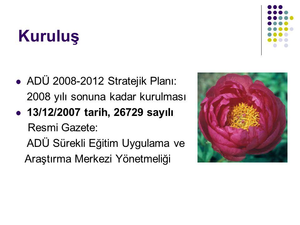 Kuruluş ADÜ 2008-2012 Stratejik Planı: