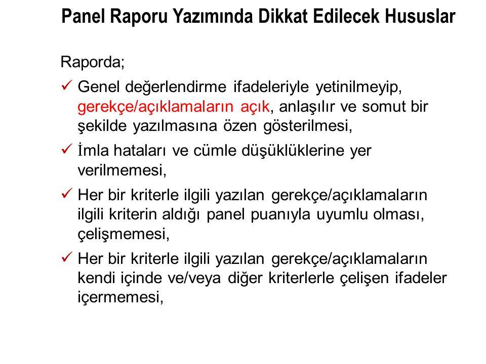 Panel Raporu Yazımında Dikkat Edilecek Hususlar