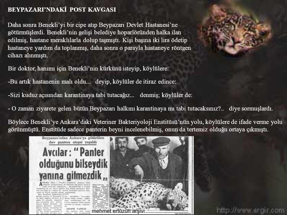 BEYPAZARI'NDAKİ POST KAVGASI