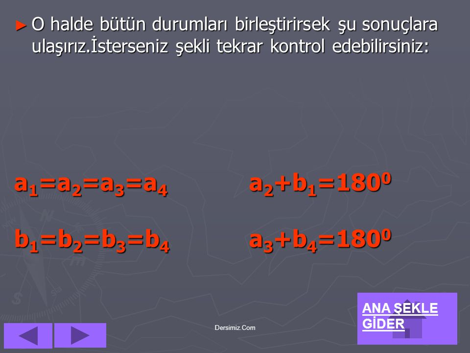 a1=a2=a3=a4 a2+b1=1800 b1=b2=b3=b4 a3+b4=1800