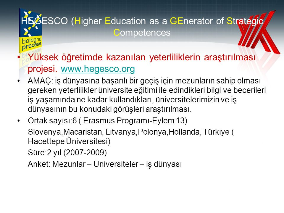 HEGESCO (Higher Education as a GEnerator of Strategic Competences