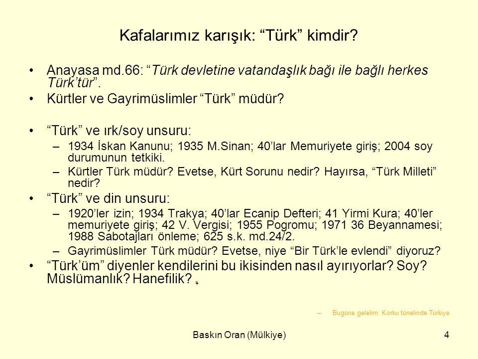 Kafalarımız karışık: Türk kimdir