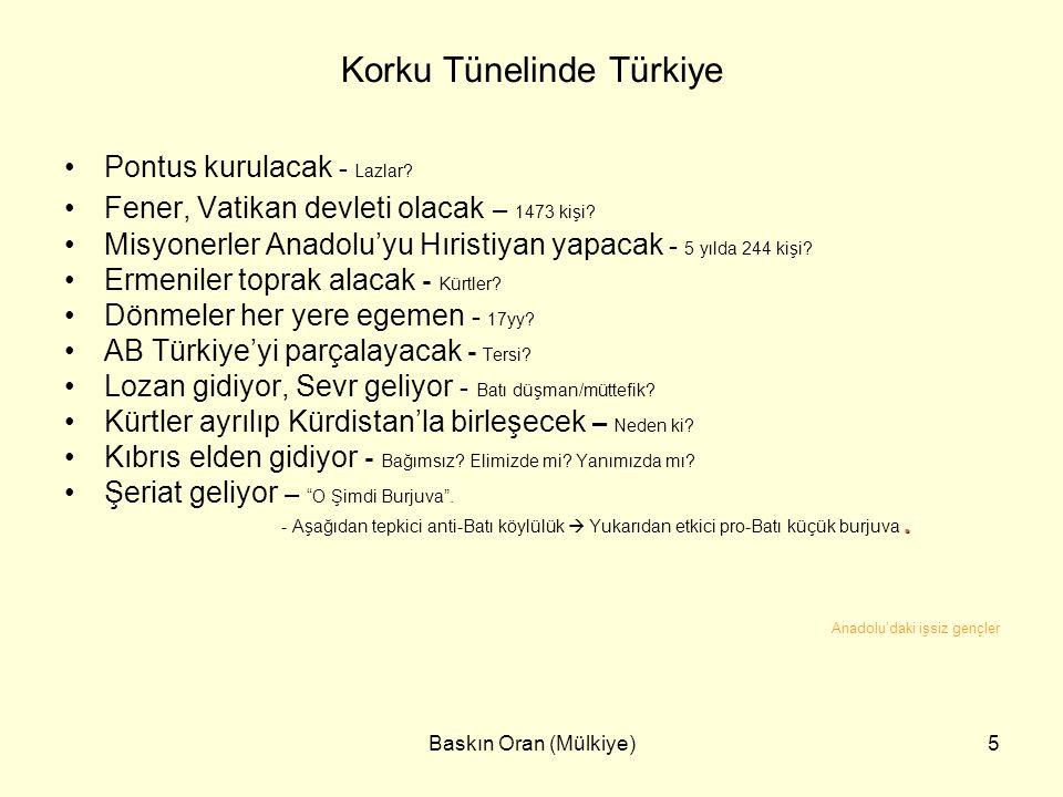 Korku Tünelinde Türkiye