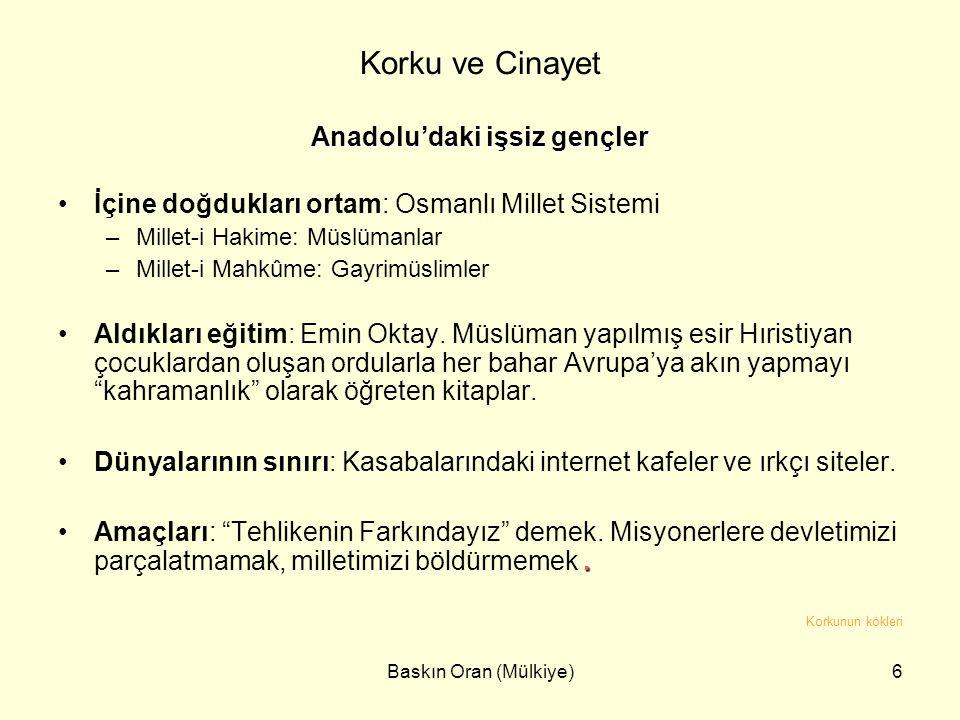 Anadolu'daki işsiz gençler