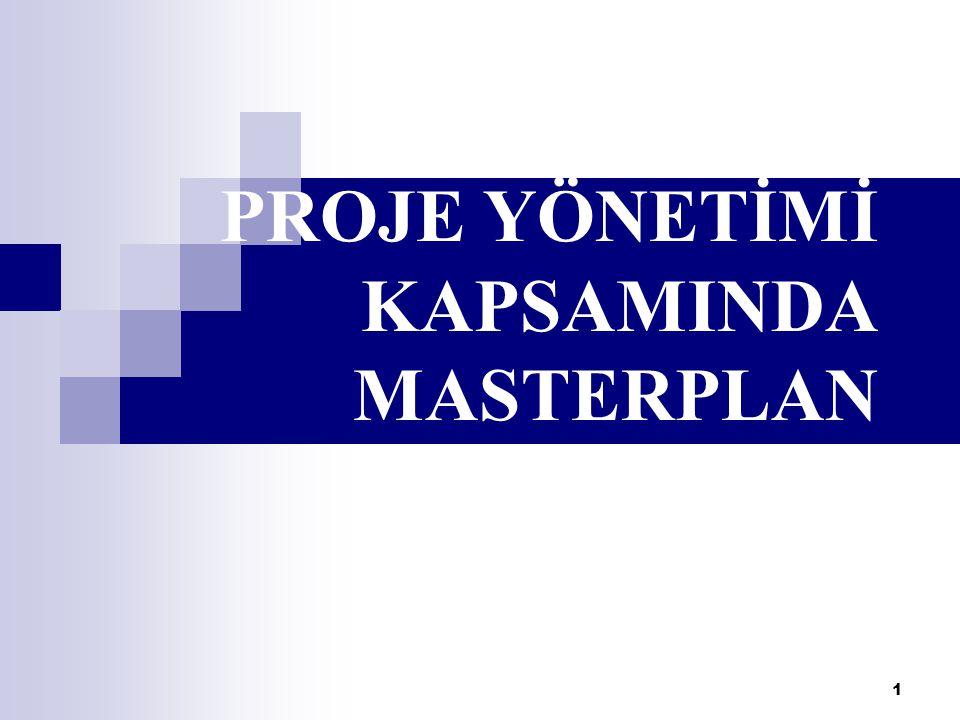 PROJE YÖNETİMİ KAPSAMINDA MASTERPLAN