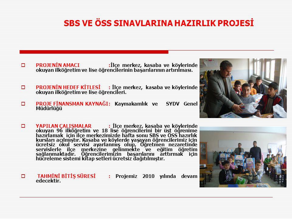 SBS VE ÖSS SINAVLARINA HAZIRLIK PROJESİ