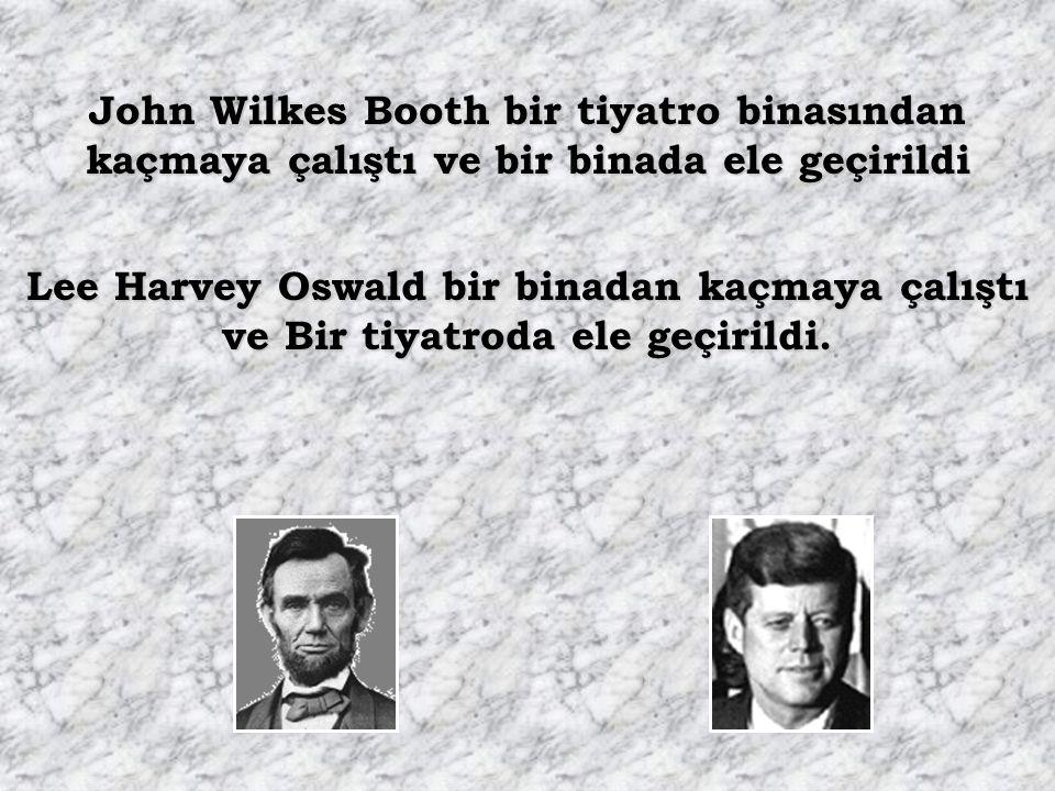 John Wilkes Booth bir tiyatro binasından kaçmaya çalıştı ve bir binada ele geçirildi