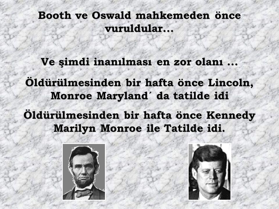 Booth ve Oswald mahkemeden önce vuruldular...